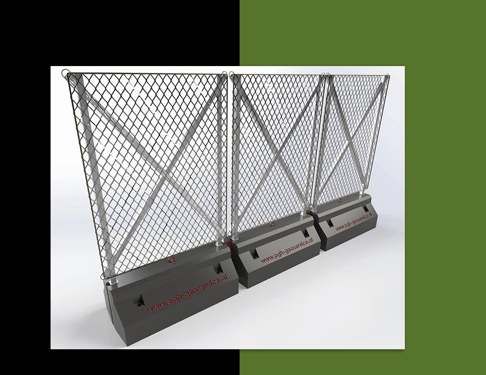 PGH Geoservice Erdox Systeme Mobiler Schutzzaun Lärmschutzwand Baustellensicherung Absperrzaun