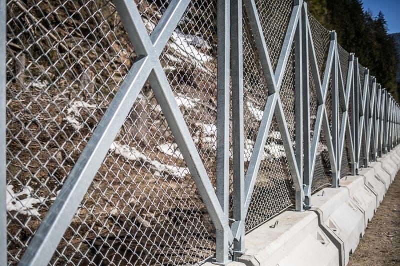 Steinschlagschutz Jersey Wand Barriereblock PGH Geoservice